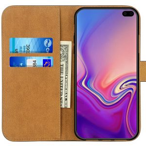 Case For Samsung Galaxy S10 & S10 Plus Luxury Genuine Leather Wallet Stand Cover