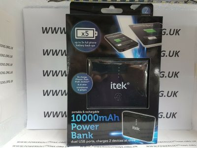 ITek I97005 USB Power Battery Bank 10000 MAh Black Power Bank 133100665195