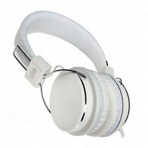 COMFY WHITE HEADPHONES  MIC & VOLUME CONTROL PS4 COMPATIBLE SKYPE