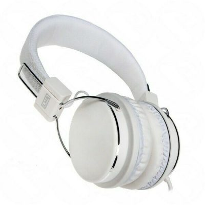COMFY WHITE HEADPHONES MIC VOLUME CONTROL PS4 COMPATIBLE SKYPE 133143037456