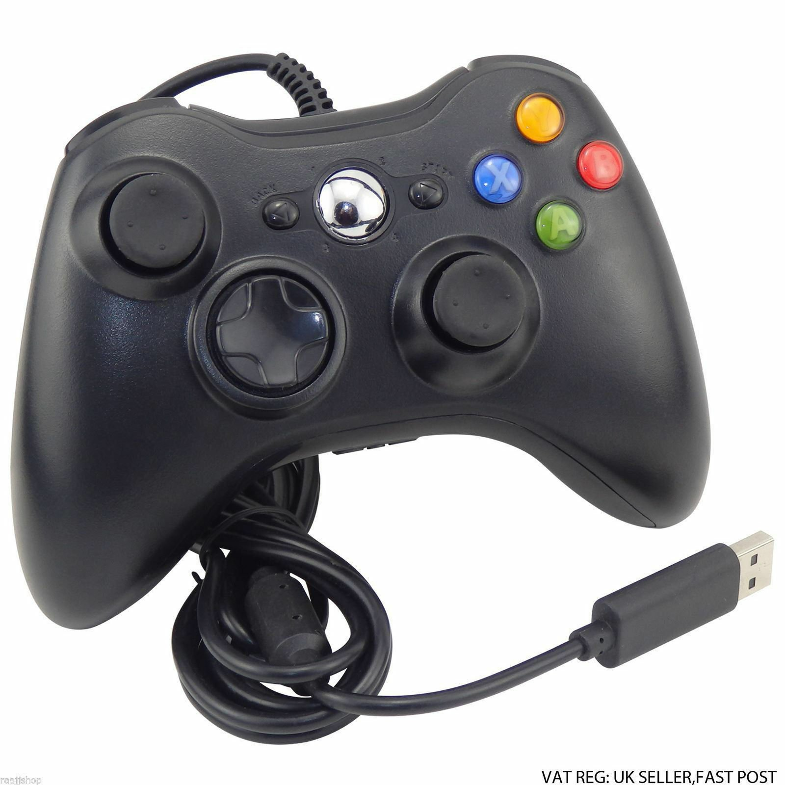 UK Brand New Xbox 360 Controller USB Wired Game Pad For Microsoft Xbox 360 132909359906