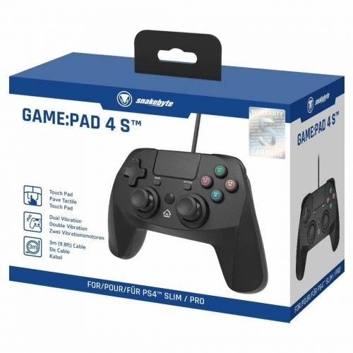 PS4 snakebyte GamePad 4 S Black for use with PS4SlimPro 133100600159 2